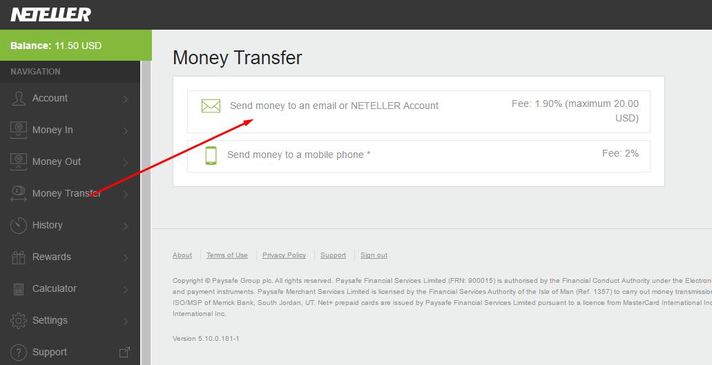 Chuyen tien Neteller - Hướng dẫn chuyển tiền giữa các tài khoản Neteller