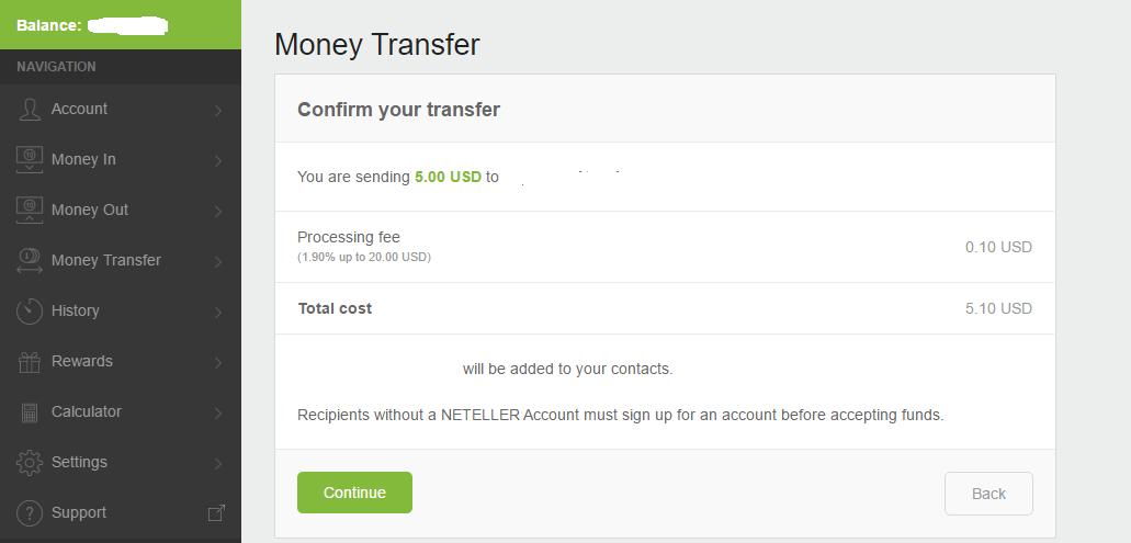 Xac nhan chuyen tien Neteller - Hướng dẫn chuyển tiền giữa các tài khoản Neteller