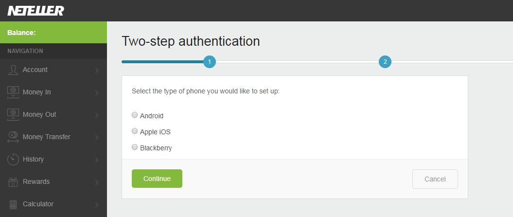 bao mat 2 lop neteller 3 - Hướng dẫn kích hoạt bảo mật 2 lớp cho tài khoản Neteller