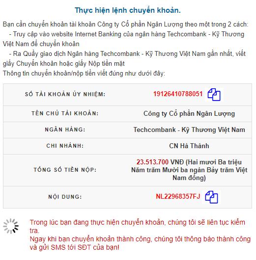 Thuc hien lenh chuyen khoan qua Ngan Luong - Hướng dẫn nạp rút tiền trên tài khoản Tickmill