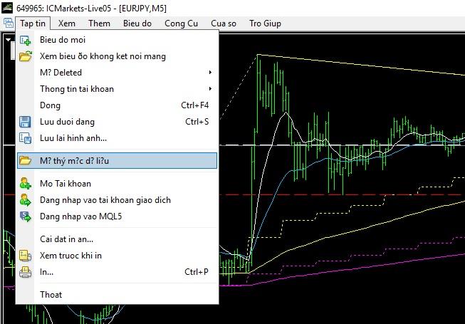 mo duong dan thu muc du lieu trong mt4 - Hướng dẫn cài đặt và sử dụng phần mềm giao dịch MetaTrader từ A đến Z