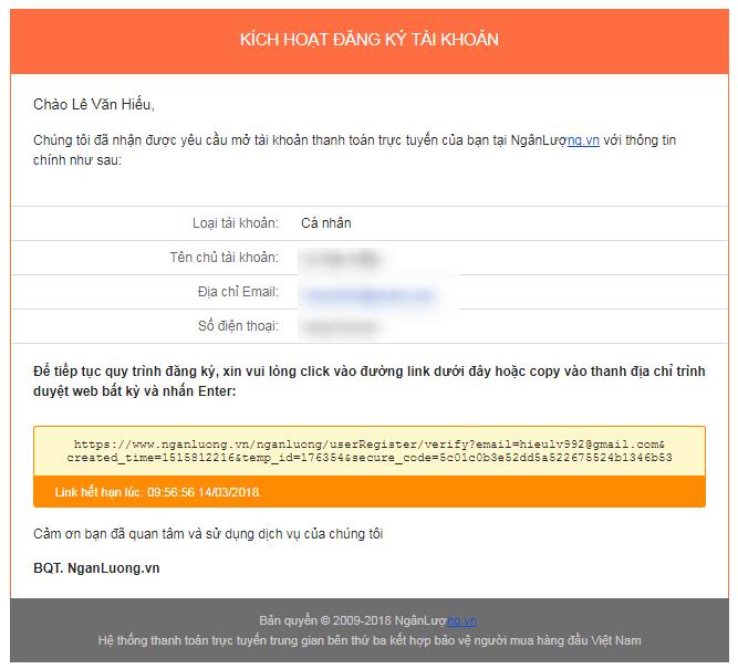 Link xac thuc dia chi email - Hướng dẫn đăng ký và xác minh tài khoản Ngân Lượng từ A đến Z