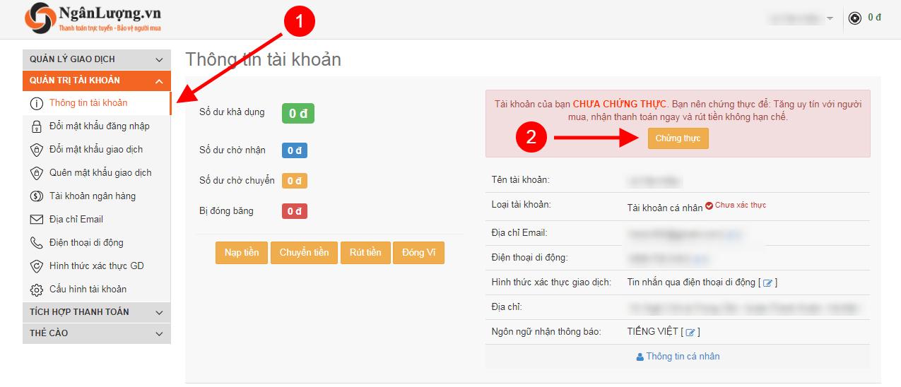 chung thuc tai khoan Ngan Luong - Hướng dẫn đăng ký và xác minh tài khoản Ngân Lượng từ A đến Z