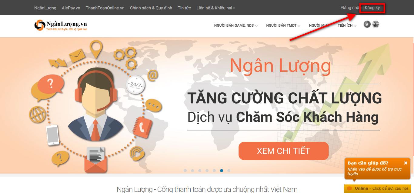 dang ky tai khoan ngan luong - Hướng dẫn đăng ký và xác minh tài khoản Ngân Lượng từ A đến Z