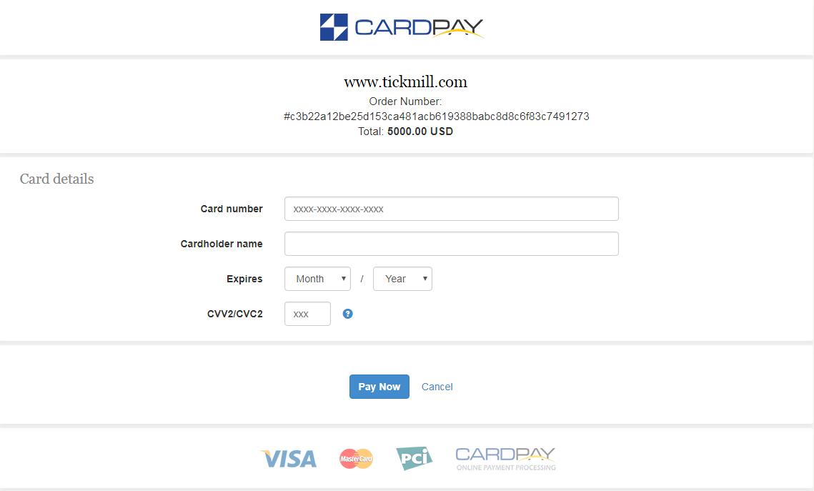 nhap thong tin the visa master card - Hướng dẫn nạp rút tiền trên tài khoản Tickmill