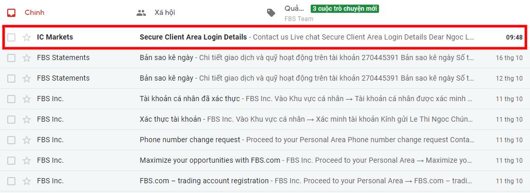 email thong tin tai khoan - Hướng dẫn mở tài khoản giao dịch Forex trên sàn ICMarkets